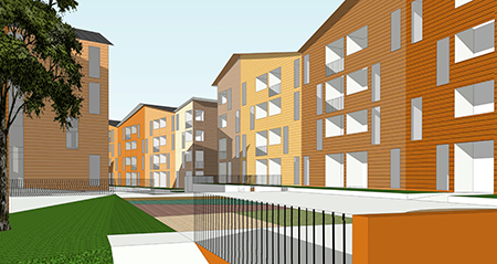 wooden and concrete apartment buildings to be studied in