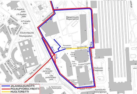 Kansalaistorin Tyomaan Liikennejarjestelyt Muuttuivat Helsingin