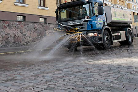 Street cleaning has started. Photo: Public Works Departmen.