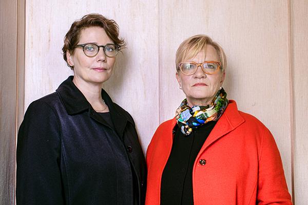"""""""Helsingforsbiennalens läge är unikt, och vi är glada över att ca 80 procent av konstverken är helt nya"""", konstaterar huvudkuratorerna Pirkko Siitari och Taru Tappola."""