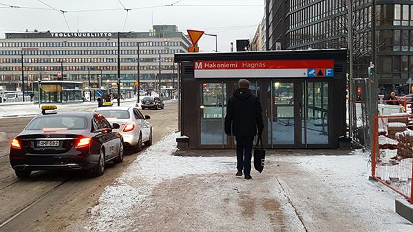 Ympyratalon Edustalla Oleva Hakaniemen Metroaseman Sisaankaynti On