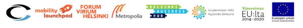 Logoja yhteistyötahoista, jotka ovat mahdollistamassa sähkölauttakokeilua.