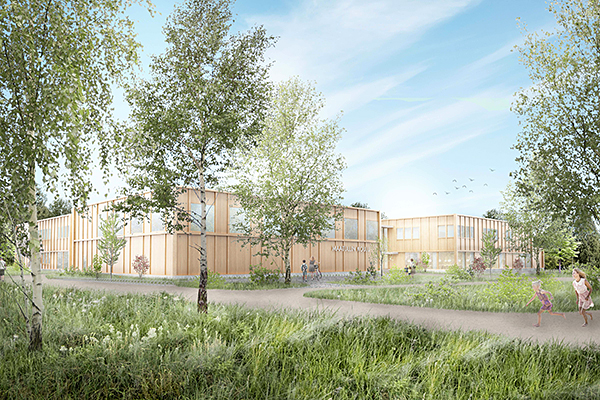 Arkkiethdin alustava näkemys talosta. Fors Blomqvist Architects