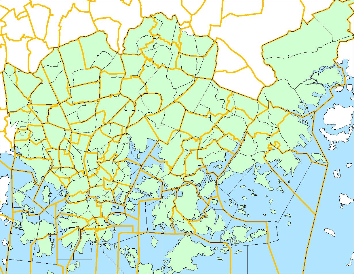 Paakaupunkiseudun Aluejakokartat Helsinki Region Infoshare