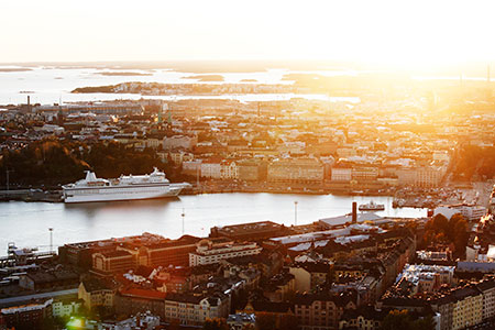 Sunrise in Helsinki. Photo: Aleksi Poutanen / City of Helsinki