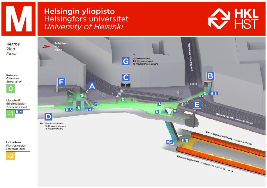 Helsingin Yliopiston Metroasema D Helsingin Kaupunki