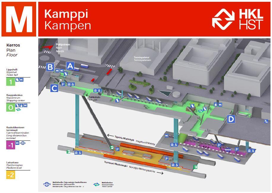 Kampin Metroasema A Helsingin Kaupunki