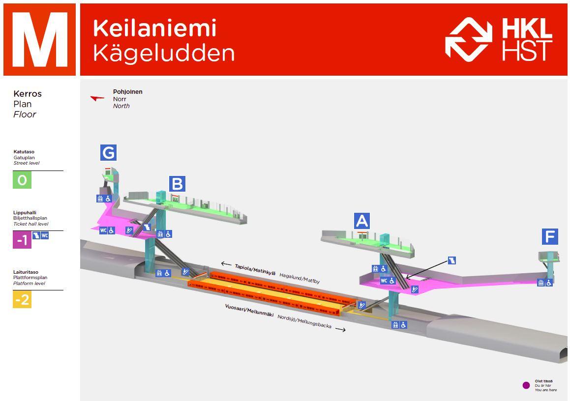 Keilaniemen Metroasema A Helsingin Kaupunki