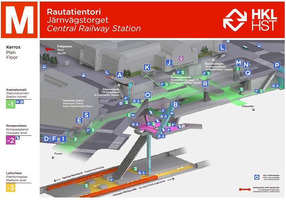Rautatientorin Metroasema A Helsingin Kaupunki