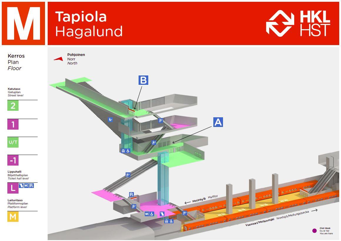 Tapiolan Metroasema A Helsingin Kaupunki