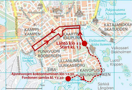 Over 100 Penkkarit trucks in Helsinki on 15 February City of Helsinki