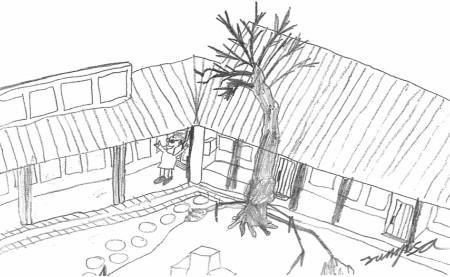 Piirros Suomenlinnan ala-asteen koulusta