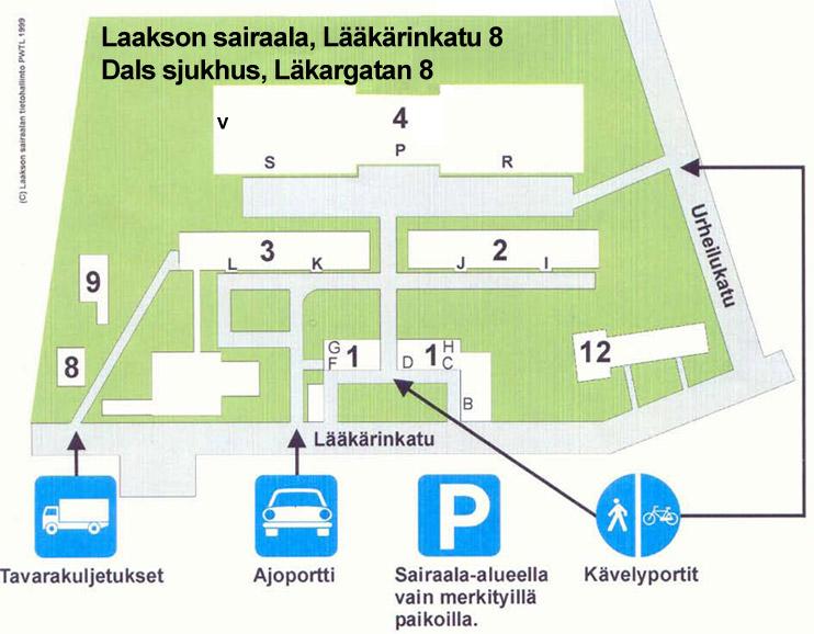 Malmin Sairaala Kartta