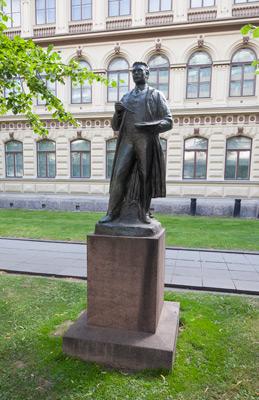 Ville Vallgren: Albert Edelfelts staty, 1927. Du får inte använda foto i kommersiellt syfte. © Foto: Helsingfors konstmuseum / Maija Toivanen