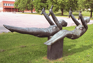 Taisto Martiskainen: Kiikkujat, 1964. Et voi käyttää kuvaa kaupallisiin tarkoituksiin. © Kuva: Helsingin taidemuseo
