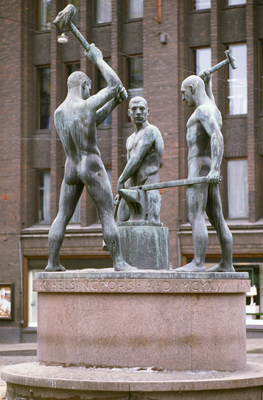 Felix Nylund: Kolmen sepän patsas / The Three Smiths, 1932. You may not use this photo for commercial purposes. © Photo: Helsinki Art Museum
