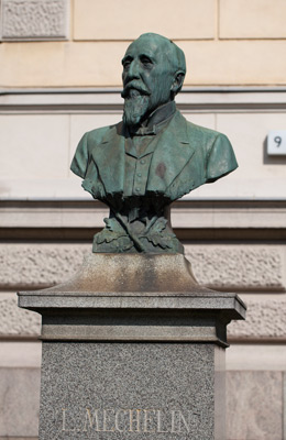 Walter Runeberg: Leo Mechelins porträttbyst, 1909. Du får inte använda foto i kommersiellt syfte. © Foto: Helsingfors konstmuseum / Maija Toivanen