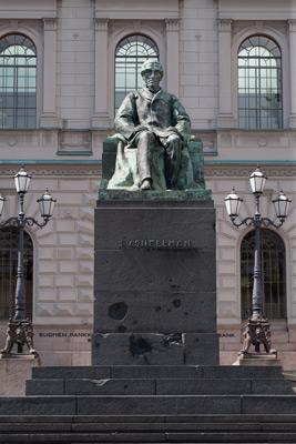 Emil Wikström: Johan Vilhelm Snellman, 1923. Du får inte använda foto i kommersiellt syfte. © Foto: Helsingfors konstmuseum / Maija Toivanen