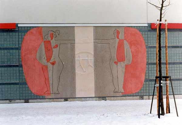 Pertti Kukkonen: Suojaava taivas (Kosketus), 1996. Et voi käyttää kuvaa kaupallisiin tarkoituksiin. © Kuva: Helsingin taidemuseo