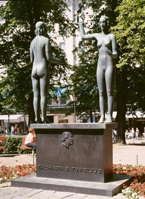 Gunnar Finne: Taru ja Totuus / Topeliuksen muistomerkki, 1932. Et voi käyttää kuvaa kaupallisiin tarkoituksiin. © Kuva: Helsingin taidemuseo / Yehia Eweis