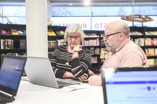 Library customers