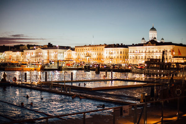 Helsinki by night. (c) Helsinki marketing