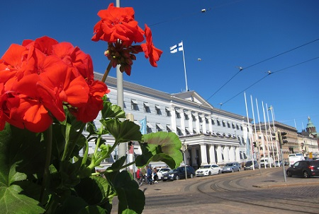 The Market Square is blooming. Photo Marja Heinrichs
