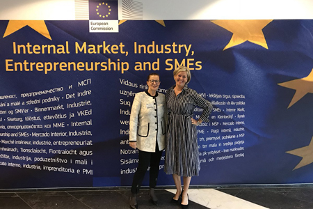 Pia Pakarinen, Deputy Mayor of Helsinki, and Laura Aalto, CEO of Helsinki Marketing, presented Helsinki's winning European Capital of Smart Tourism entry.