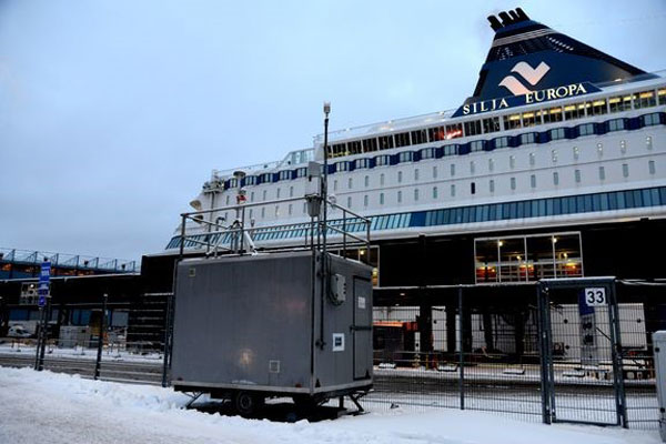 Silja Europa at Port of Helsinki. Photo: Tero Pajukallio