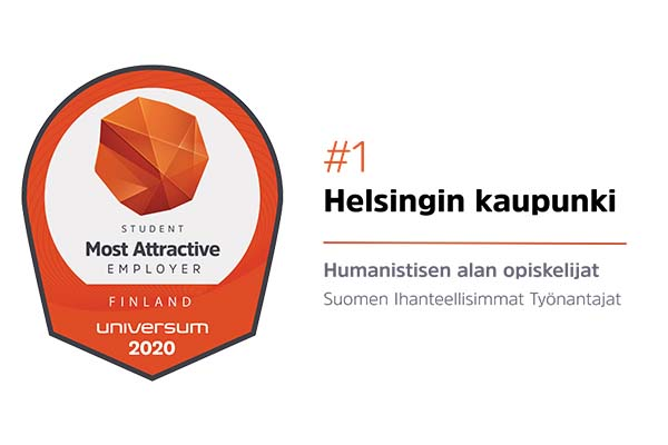 #1 City of Helsinki – Helsinki ranked the most attractive employer of Finland by humanities student.