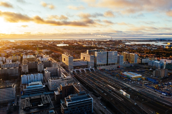 View over Pasila. Photo: Jussi Hellsten, City of Helsinki
