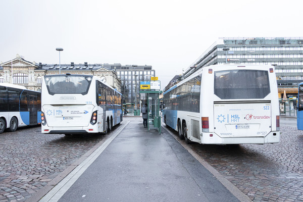 Buses at Railway station.