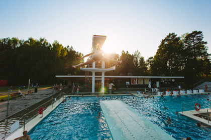 Kumpula outdoor swimming pool, foto: Sport Department