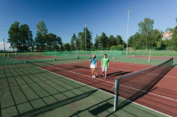 Mustikkamaa sports park tennis courts, foto: Konsta Linkola