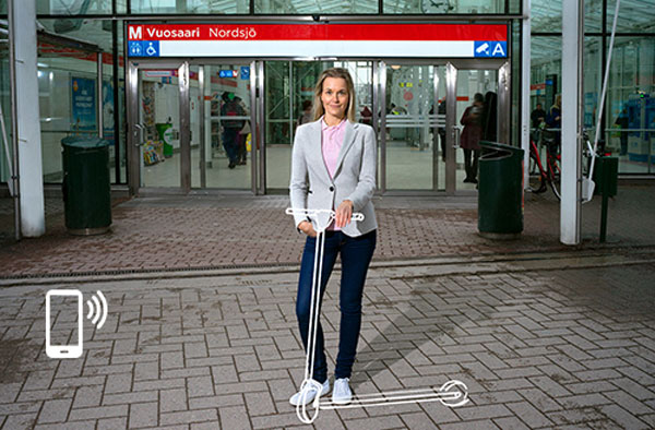 New scooter service in Vusaari. Photo: Helsinki Region Transport.