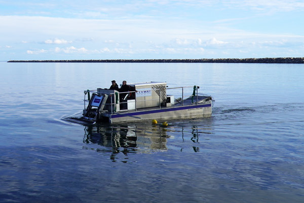 The Cleansweep rubbish collecting vessel. Image: Clewat Oy.