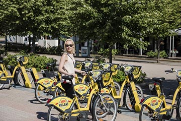 Popular employee benefit: city bikes