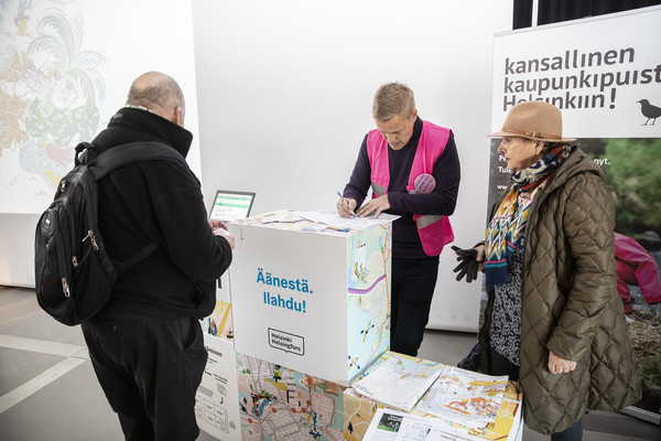 First OmaStadi voting was a succes. Photo: Marja Väänänen