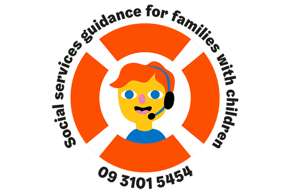 Logo for the social services guidance for families with children phone service