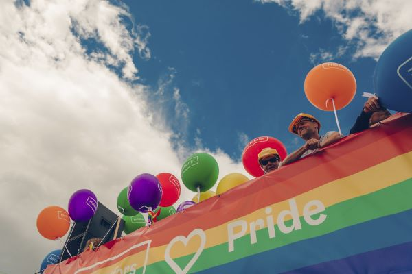Helsinki Pride brings the rainbow colours to the Helsinki street scene. Photo: Stara, Helsinki Material Bank.