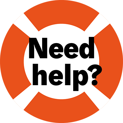 Need Help banner. Image contains a life saver.