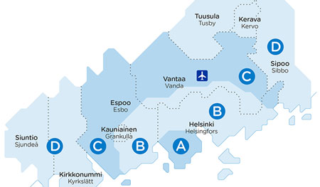 Photo: Map / City of Helsinki