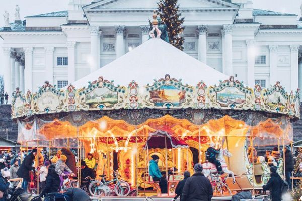 Carusel at Helsinki Christmas Market. Photo: MyHelsinki.