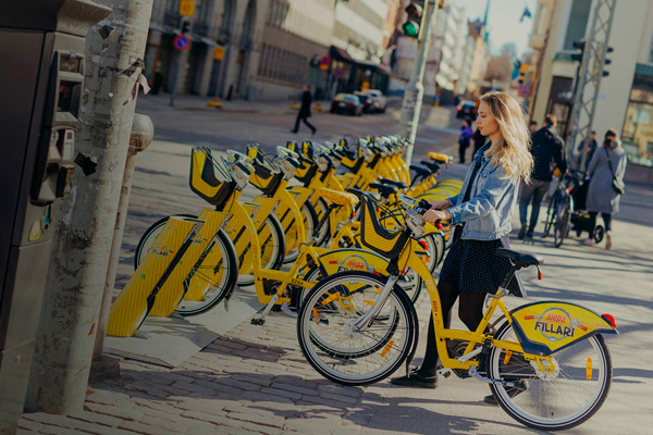 City bikes. Photo: Marie von Bell.