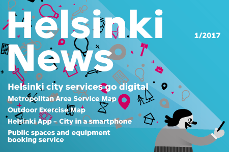 Cover of the first number of Helsinki News of this year.
