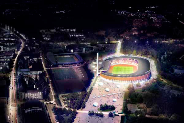 The renewed Olympic Stadium to open next autumn to the public. Photo Olympic Stadium.