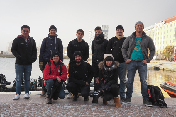 Dozen top VR developers arrived to Helsinki to finalise the Helsinki-themed virtual content. (Photo: Zoan)