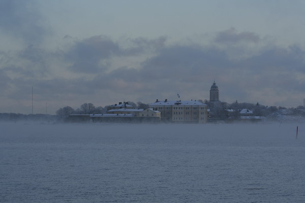 Suomenlinna from the sea.